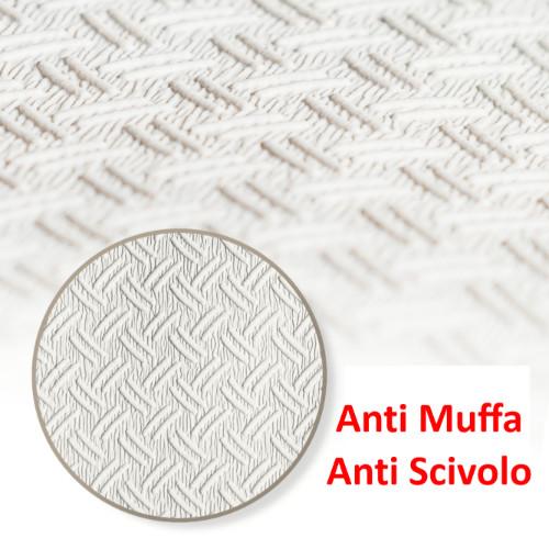 Tappeto Doccia Antiscivolo e antimuffa Quadrato 55x55 cm Tappetino Bagno Realizzato in Gomma con Ventose