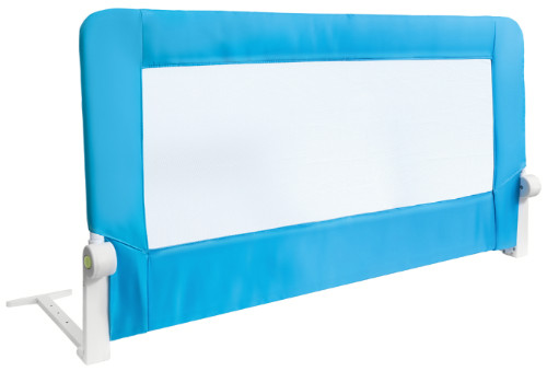 Barriera Letto per bambini Pieghevole Blu in Acciaio Poliestere Plastica 120X47X65cm