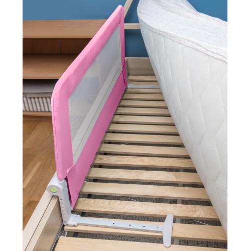 Barriera Letto per bambini Pieghevole Rosa in Acciaio Poliestere Plastica 120X47X65cm