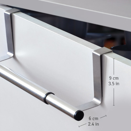 Barra Porta Asciugamani Espandibile in Acciaio Inox da 25 a 40X8X9cm