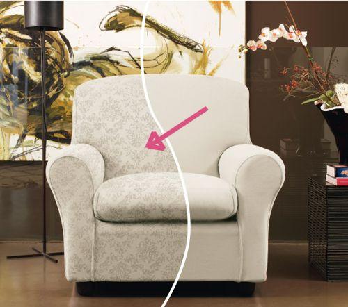 Copridivano elastico 2 posti bianco zapping barocco zucchi - Copridivano con cuscini schienale separati ...