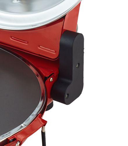 Forno Pizza alta temperatura 400 gradi e Pietra Refrattaria NERA 1200 Watt Timer 15 minuti e accessori O SOLE MIO