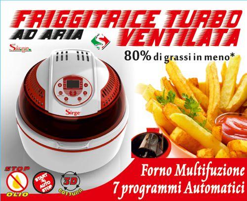 friggitrice ad aria turbo ventilata forno multifunzione digitale Sirge