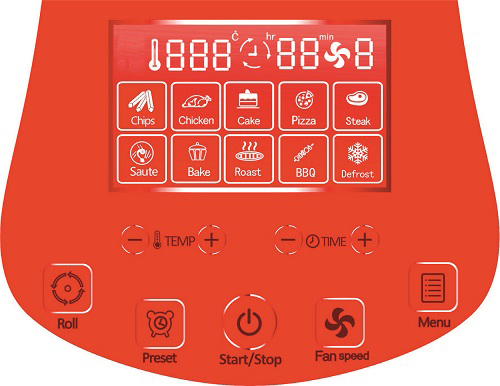 pannello LCD digitale per touchscreen friggitrice ad aria digitale sirge