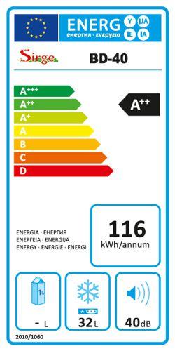 etichetta energetica freezer congelatore