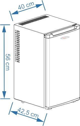 Sirge - Frigorifero 35 Litri SILENZIOSO 0dB senza compressor