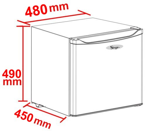 sirge frigorifero 46 litri con ghiacciaia classe a frigoba. Black Bedroom Furniture Sets. Home Design Ideas