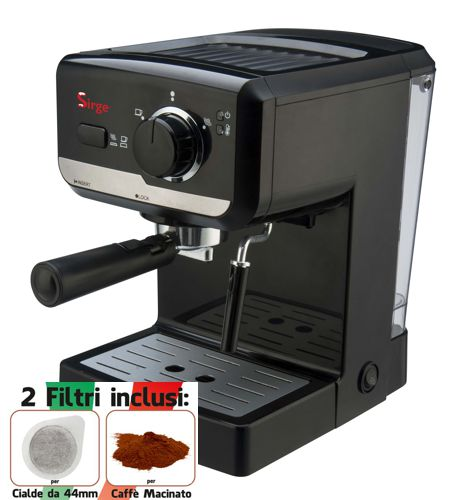 Sirge - Macchina per Caffe Espresso e Cappuccino caffe in po