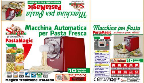Macchina elettrica per fare la pasta fresca con 14 dischi - Macchine per pasta fatta in casa ...