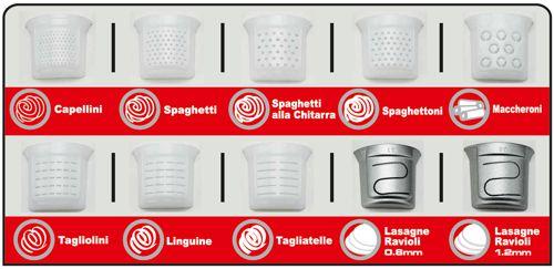 Confezione 10 Trafile per Macchina per la Pasta Sirge PastaMagic