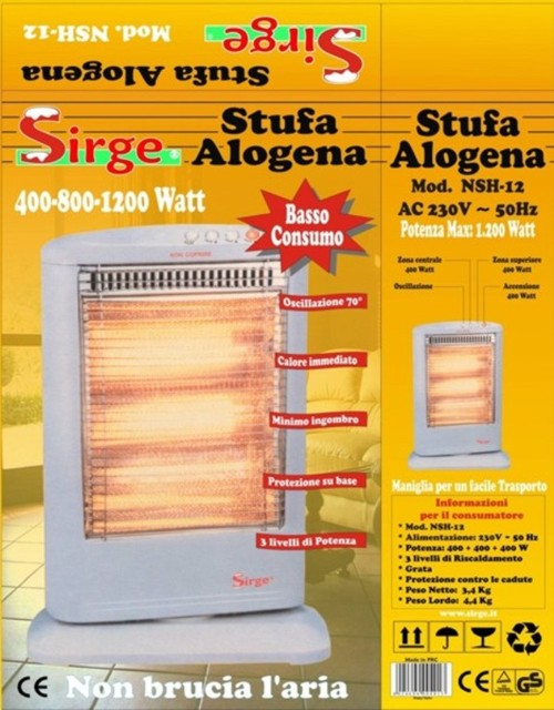 Sirge elettrodomestici 99y - Stufa alogena basso consumo ...