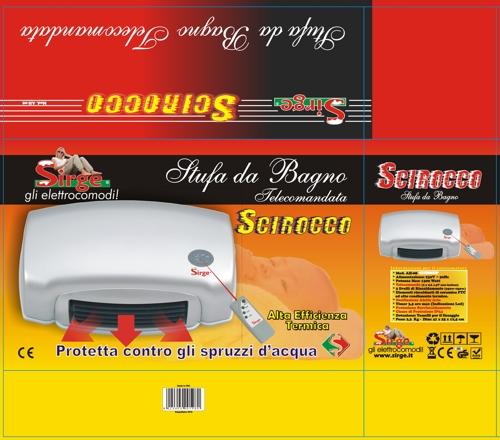 Sirge Elettrodomestici - Stufa Bagno da Parete SCIROCCO