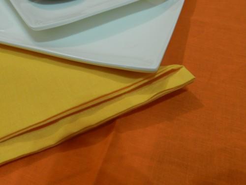 Tovaglia Cotone arancio Tinta Unita