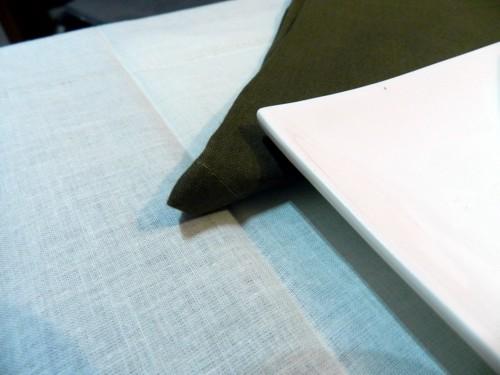 Tovaglia Avorio Cotone 110 X 110 cm Quadrata Tinta Unita 100% Cotone