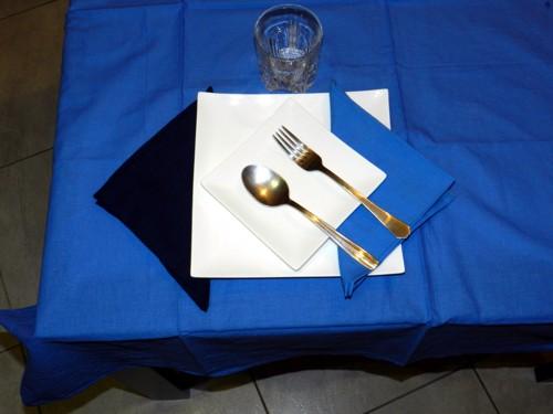 Tovaglia Azzurra Cotone 140 X 180 cm Rettangolare Tinta Unita 100% Cotone