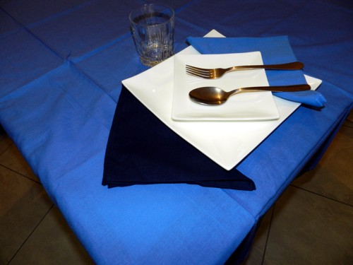Tovaglia Cotone azzurra Tinta Unita