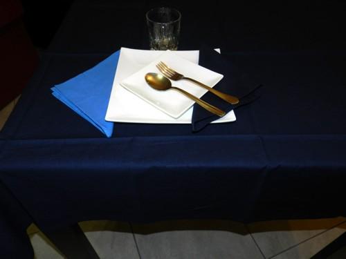 Tovaglia Blu Cotone 140 X 180 cm Rettangolare Tinta Unita 100% Cotone