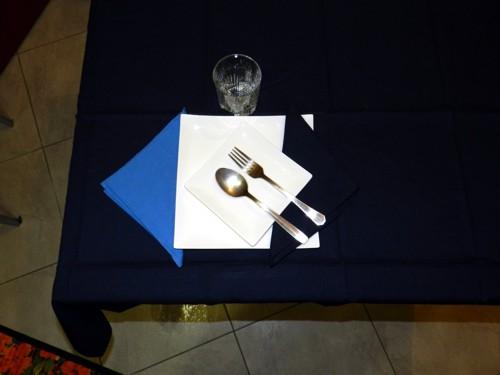 Tovaglia Cotone blu Tinta Unita