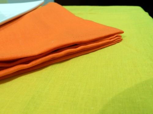 Tovaglia Gialla Cotone 110 X 110 cm Quadrata Tinta Unita 100% Cotone