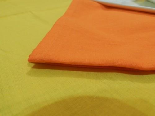 Tovaglia Gialla Cotone 140 X 180 cm Rettangolare Tinta Unita 100% Cotone