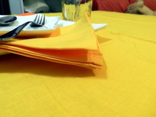 Tovaglia Cotone gialla Tinta Unita