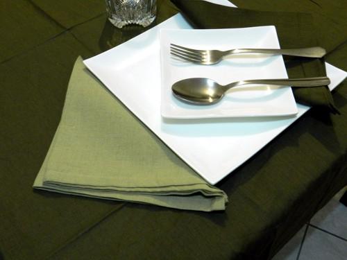 Tovaglia Marrone Cotone 140 X 180 cm Rettangolare Tinta Unita 100% Cotone