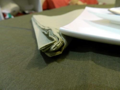 Tovaglia Cotone Marrone Tinta Unita
