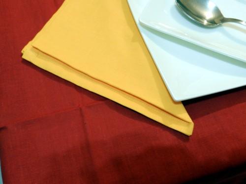 Tovaglia Rossa Cotone 140 X 180 cm Rettangolare Tinta Unita 100% Cotone