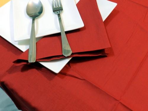 Tovaglia Cotone rossa Tinta Unita