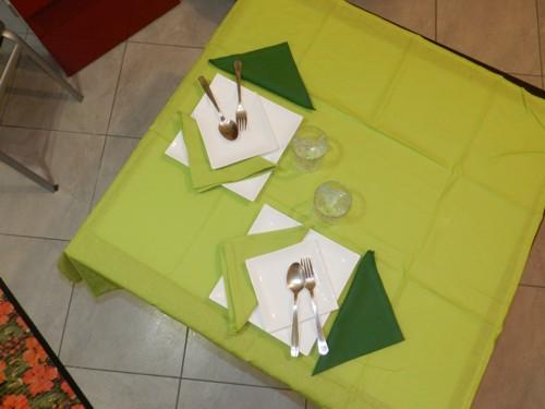Tovaglia Cotone Verde Chiaro Tinta Unita