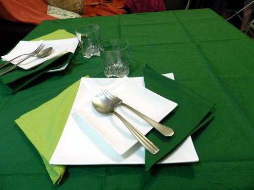 Tovaglia Cotone Verde Scuro Tinta Unita