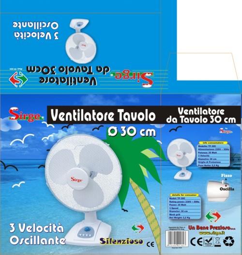 Sirge elettrodomestici tavolo30 - Ventilatore da tavolo silenzioso ...