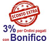 EXTRASCONTO 3% per Ordini pagati con Bonifico