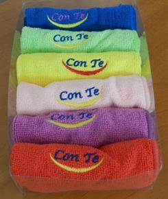 Confezione 6 Asciugamani Microfibra colori assortiti 50 x 110 cm - Alta Assorbenza, leggero, asciugatura rapida, poco ingombrante, la nuova frontiera delle spugne