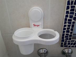 Porta Asciugacapelli Dentifricio Spazzolini Pettine Spazzola Organizzatore da bagno con Ventosa e fissaggio senza trapano