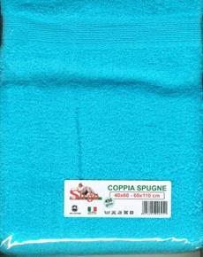 Asciugamani Coppia Spugne 40x60cm e 60x110cm 450gr/mq SPUGNE02