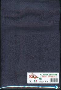 Asciugamani Coppia Spugne 40x60cm e 60x110cm 450gr/mq SPUGNE08