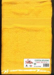 Asciugamani Coppia Spugne 40x60cm e 60x110cm 450gr/mq SPUGNE09