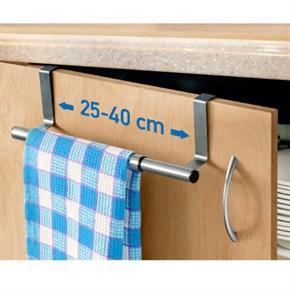 Barra Porta Asciugamani Espandibile in Acciaio Inox 25/40X8X9cm