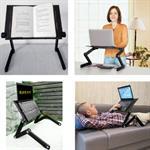 Tavolo per Laptop Pieghevole Tavolino per PC da Letto Regolabile Supporto per Laptop Leggio per Letto Alluminio