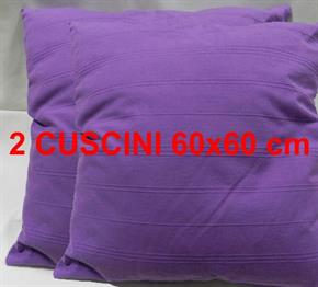2 Cuscini Arredo 100% Cotone 60 x 60 cm con rilievi sfoderabile