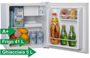 Frigorifero 46 Litri con ghiacciaia Classe A+ Frigobar Frigo: 41 litri di Frigorifero + 5 litri di ghiacciaia