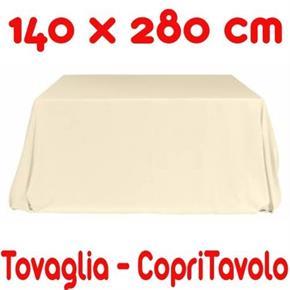 2 Copritavoli Cotone Tovaglia Rettangolare Tinta Unita 140 x 280 cm - 2 pezzi