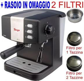 Macchina per Caffe Espresso per 1 o 2 tazze e Cappuccino caffe in polvere Gran Bar 15bar FILTRO CREMA PIU per una SUPER CREMA