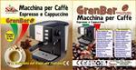 Macchina per Caffe Espresso e Cappuccino caffe in polvere Crema Expresso PIU GranBar 15bar