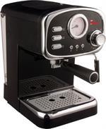 Macchina per Caffe Espresso e Cappuccino caffe in polvere e a Cialde di Carta Cremilda con Pompa Italiana 15bar e indicatore di temperatura Analogico