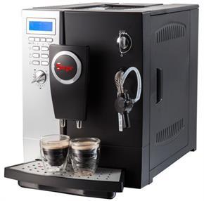 Macchina da Caffe Espresso e Cappuccino completamente AUTOMATICA e DIGITALE con macinacaffe integrato o caffe in polvere. Pompa ITALIANA 19bar. AUTOPULIZIA.