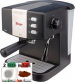 Macchina per Caffe Espresso e Cappuccino caffe in polvere e a Cialde di Carta GRANBAR con Pompa Italiana 15bar