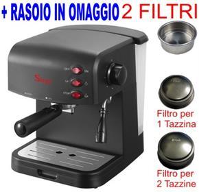 Macchina per Caffe per 1 o 2 tazze Espresso e Cappuccino caffe in polvere Crema Expresso 15bar