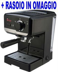 Macchina per Caffe Espresso e Cappuccino caffe in polvere e Cialde di carta Lussy 15bar POMPA ITALIANA